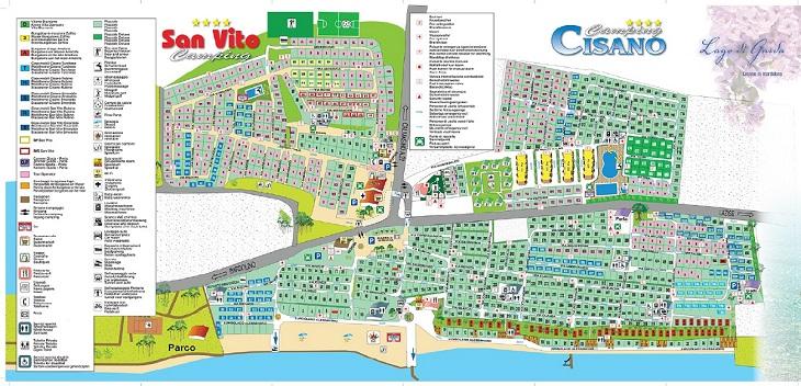 plattegrond Camping Cisano San Vito