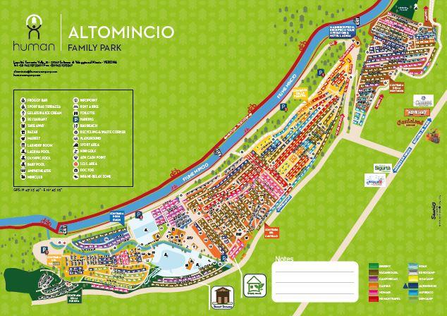 plattegrond Camping Altomincio Vakantiepark
