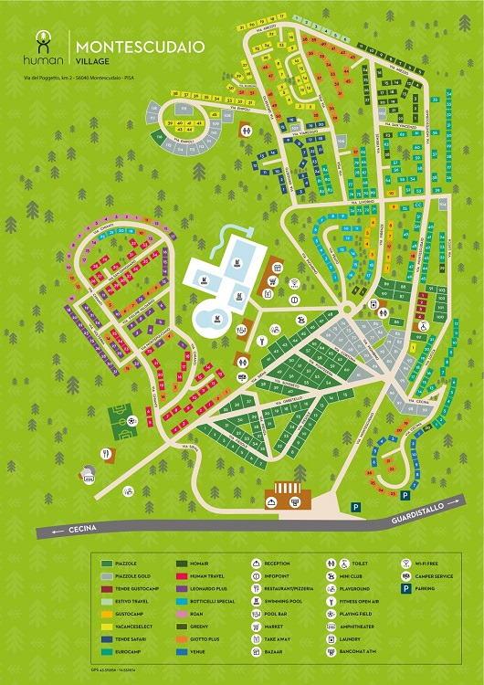Montescudaio Village plattegrond