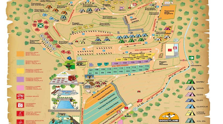 plattegrond Camping Le Pianacce