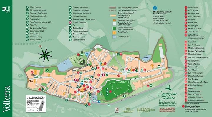 Volterra centrum plattegrond