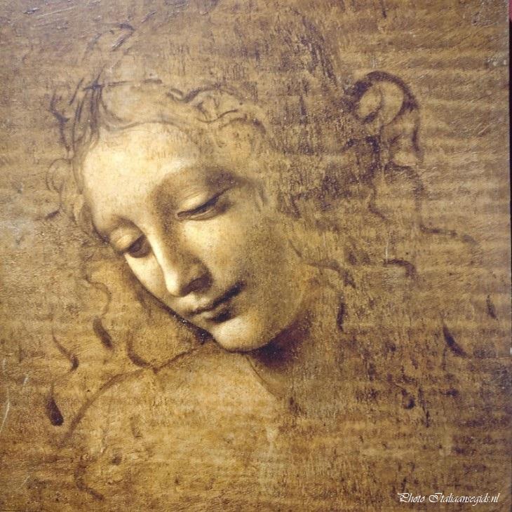 La scapigliata van Leonardo da Vinci