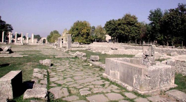 Romeinse ruïnes in Saepinum nabij Campobasso
