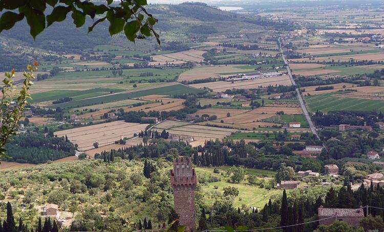 Cortona uitzicht