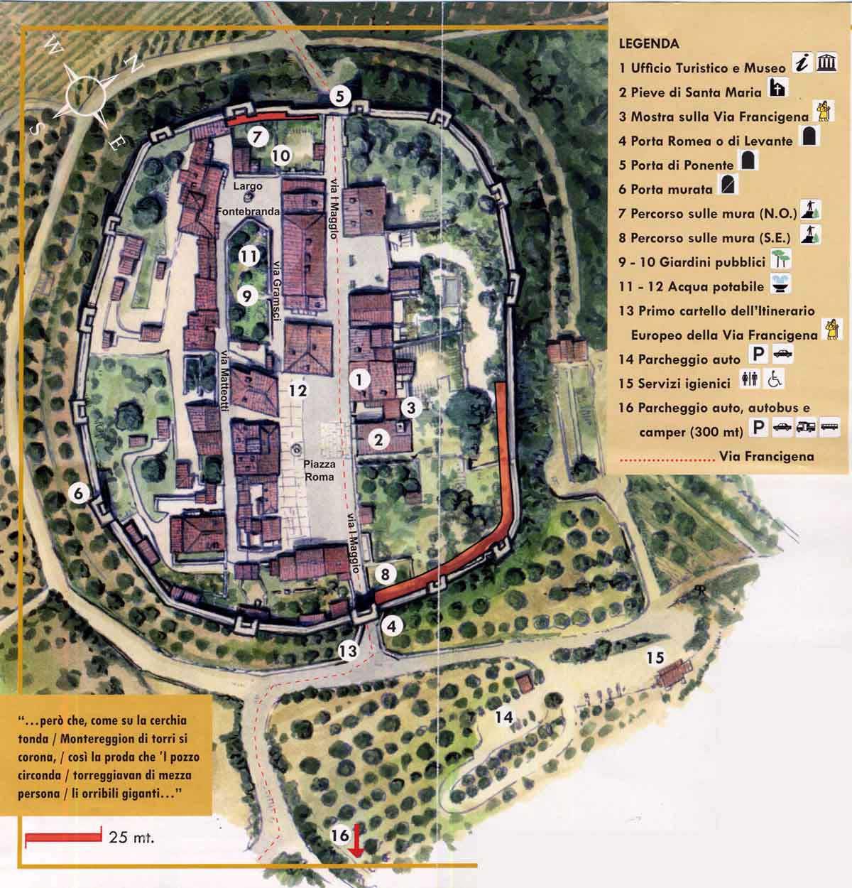 plattegrond Monteriggioni