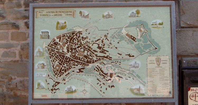 stadsplattegrond Cortona