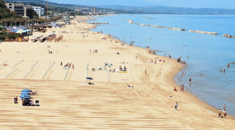 strand Termoli - Molise, Italië