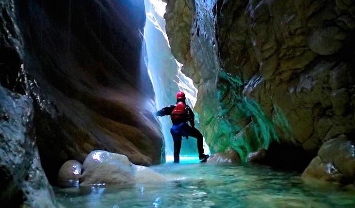 Canyoning in de omgeving van het Gardameer
