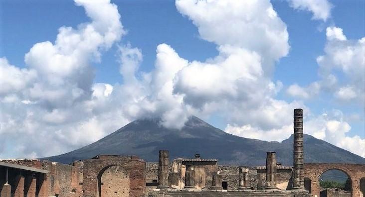 De verloren stad Pompeï en de Vesuvius